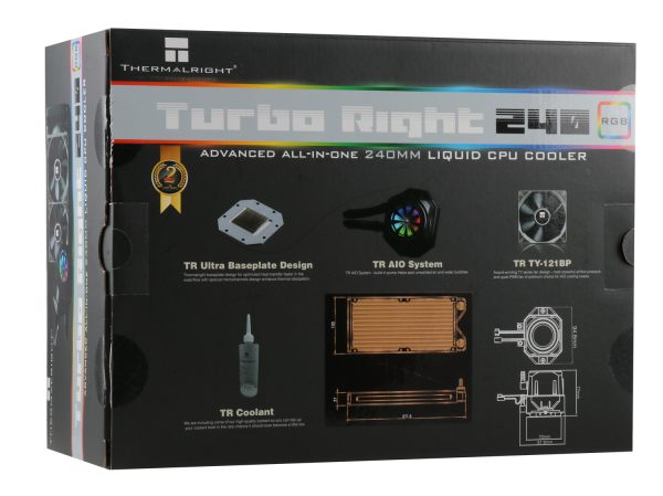 首次涉足水冷散热器,利民推出Turbo Right 240 C / 360 C