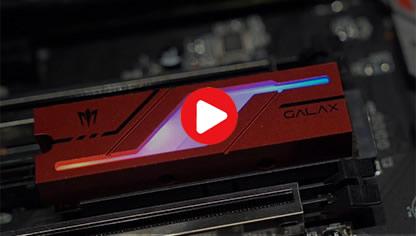 [视频]带RGB灯的M.2 SSD见过没?影驰Gamer M.2 RGB SSD试玩